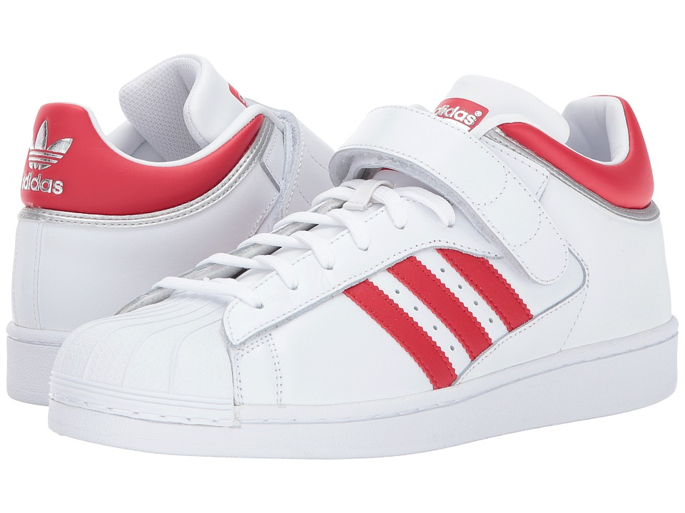 adidas Originals - Pro Shell (White/Scarlet/Silver) Men's Classic Shoes