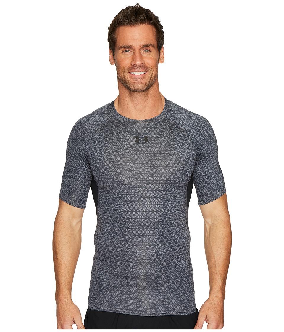 Under Armour Armour(r) Heatgear(r) Printed S/S Tee (Graphite/#/Black) Men