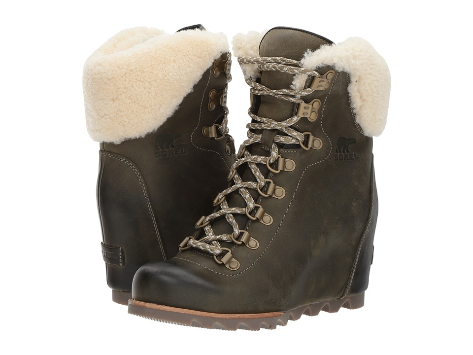 SOREL Conquest Wedge Shearling (Nori/Stone) Women