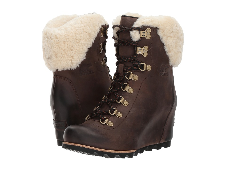 SOREL Conquest Wedge Shearling (Tobacco/Black) Women