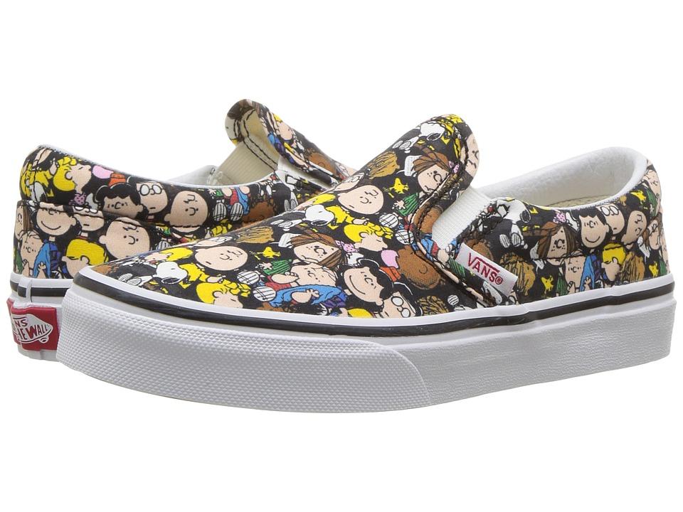 Vans Kids Classic Slip-On x Peanuts (Little Kid/Big Kid) ((Peanuts) The Gang/Black) Kids Shoes