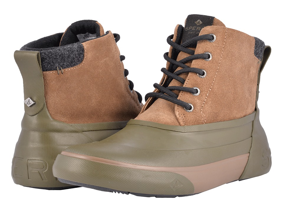 Sperry Cutwater Deck Boot (Brown/Olive) Men
