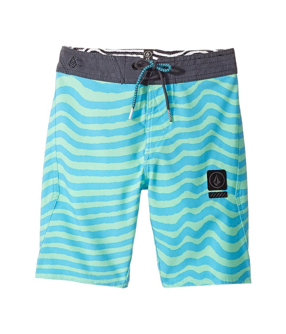 Volcom Kids Mag Vibes Stoney Boardshort (Big Kids) (Aqua) Boy