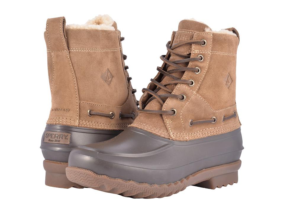Sperry Decoy Boot Shearling Waterproof (Tan Suede) Men