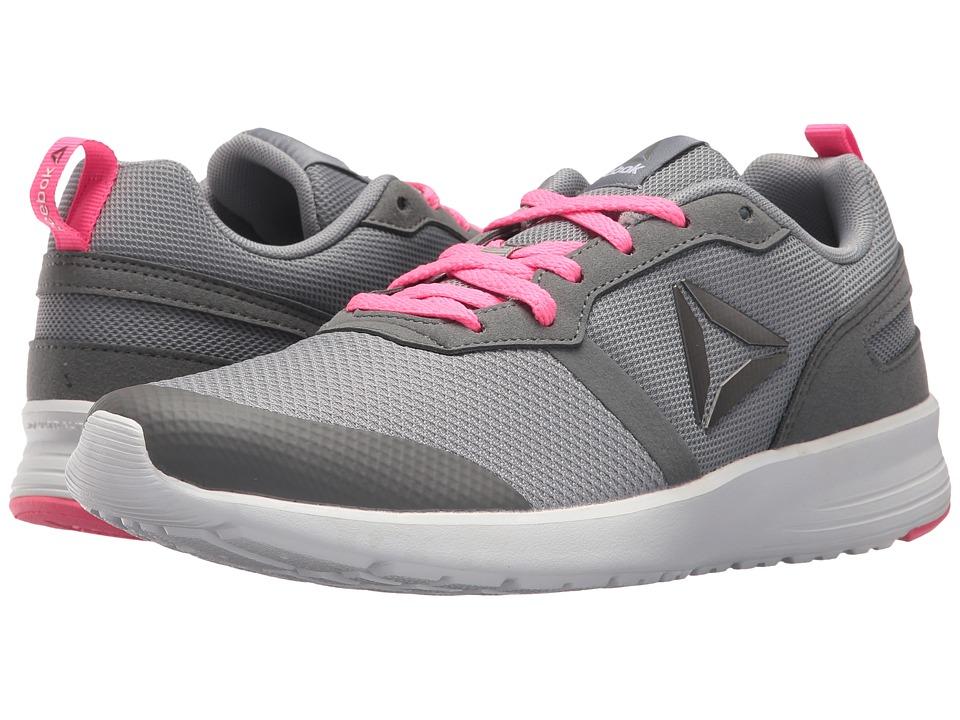 Reebok - Foster Flyer (Flat Grey/Medium Grey/Poison Pink/White/Pewter) Women's Running Shoes