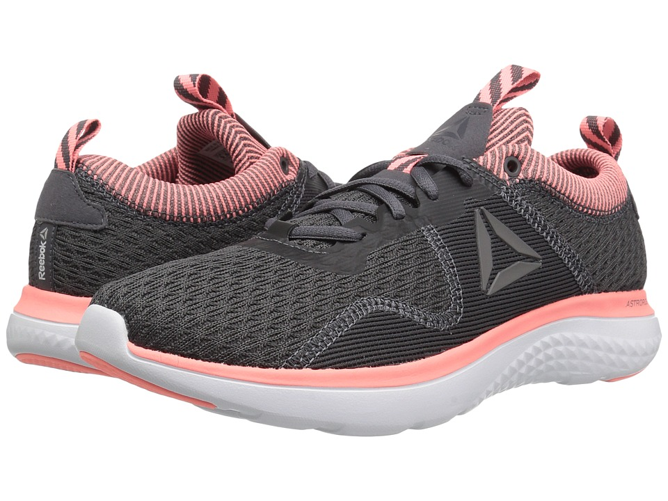 Reebok - Astroride Run Fire MTM (Ash Grey/Sour Melon/Coal/White/Alloy/Silver/Steel) Women's Running Shoes