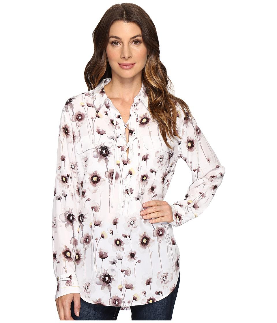 EQUIPMENT - Knox Q2858-E275 (Bright White Multi) Women's Blouse