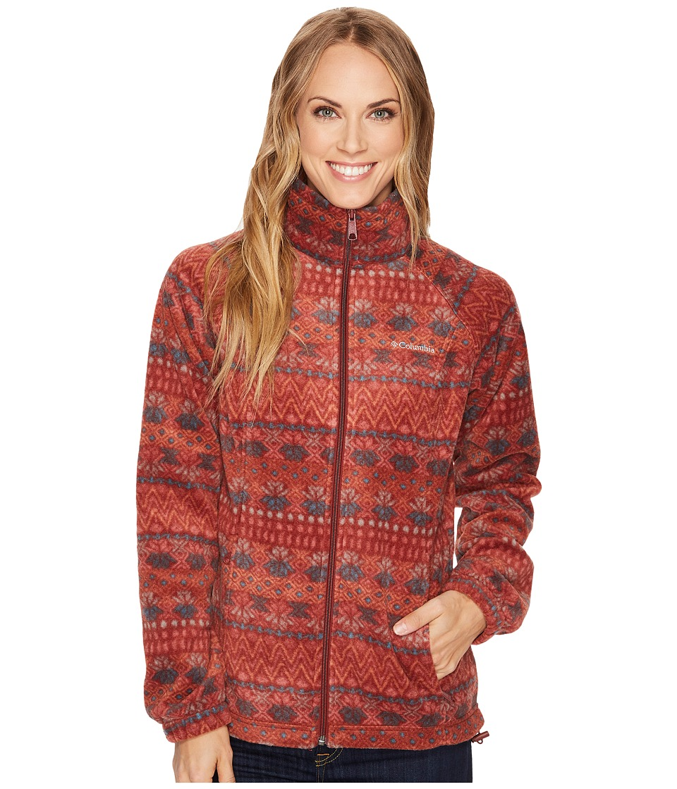 Columbia - Benton Springstm Print Full Zip (Deep Rust Nordic Stripe) Women's Coat