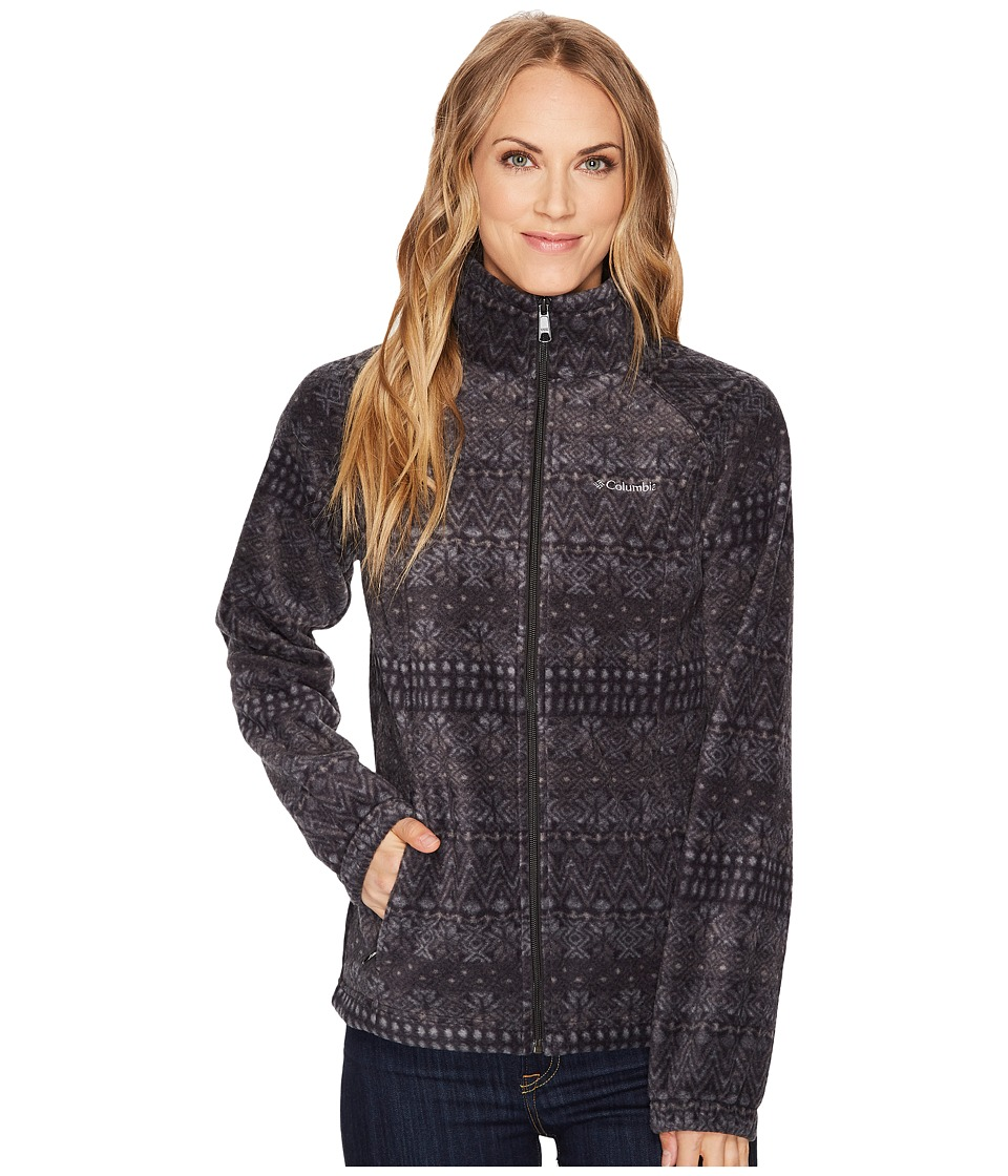 Columbia - Benton Springstm Print Full Zip (Black Nordic Stripe) Women's Coat