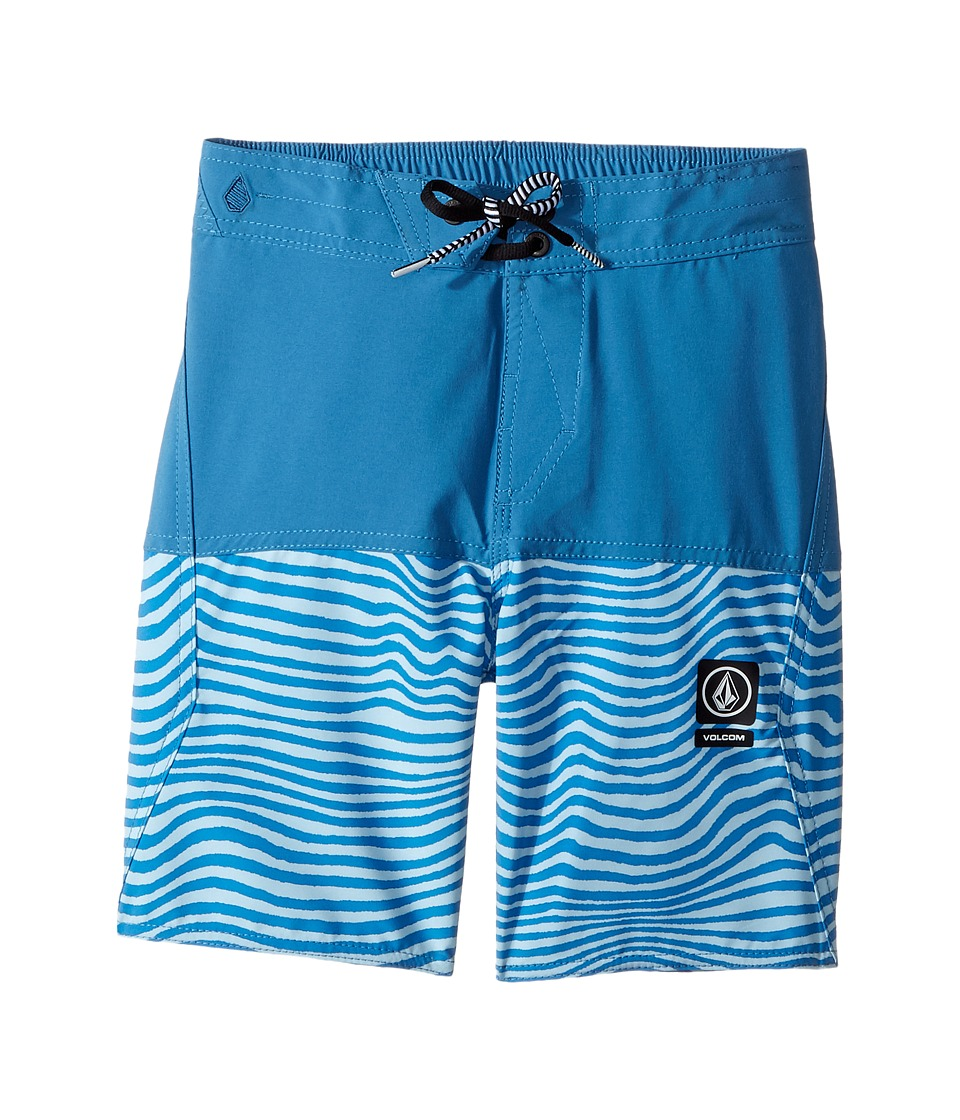 Volcom Kids - Vibes Half Stoney Boardshort (Little Kids/Big Kids) (Mayan Blue) Boy's Swimwear