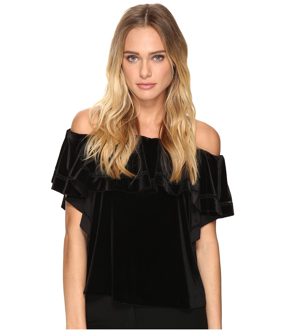 Rachel Zoe - Gaia Off the Shoulder Top (Black) Women's Short Sleeve Pullover