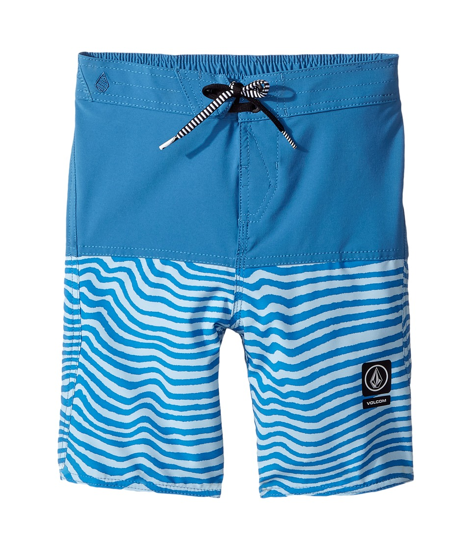 Volcom Kids - Vibes Half Stoney Boardshort (Toddler/Little Kids) (Mayan Blue) Boy's Swimwear