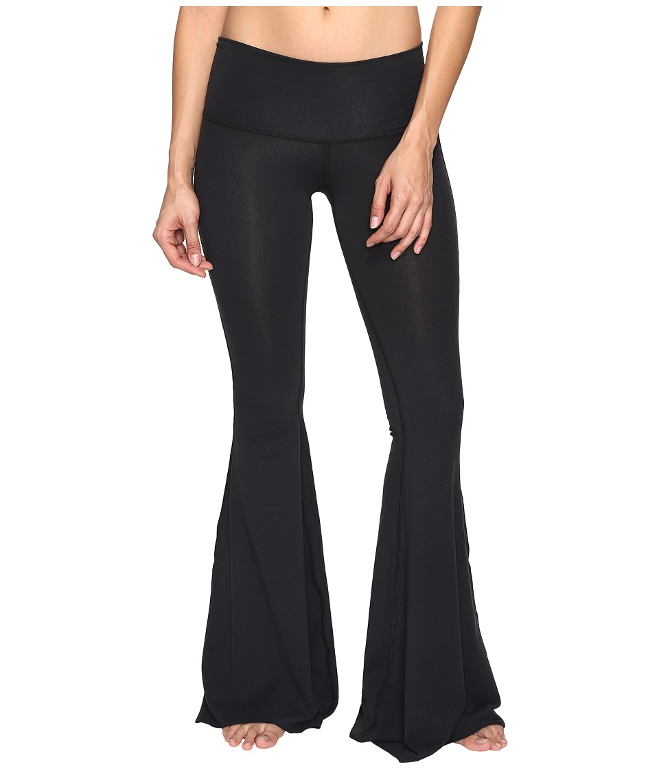 teeki - Solid Black Bell Bottoms (Black) Women's Casual Pants