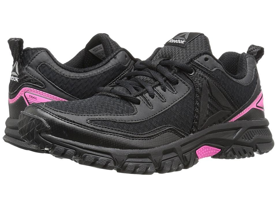 Reebok - Ridgerider Trail 2.0 (Black/Solar Pink/Silver/Pewter) Women's Running Shoes