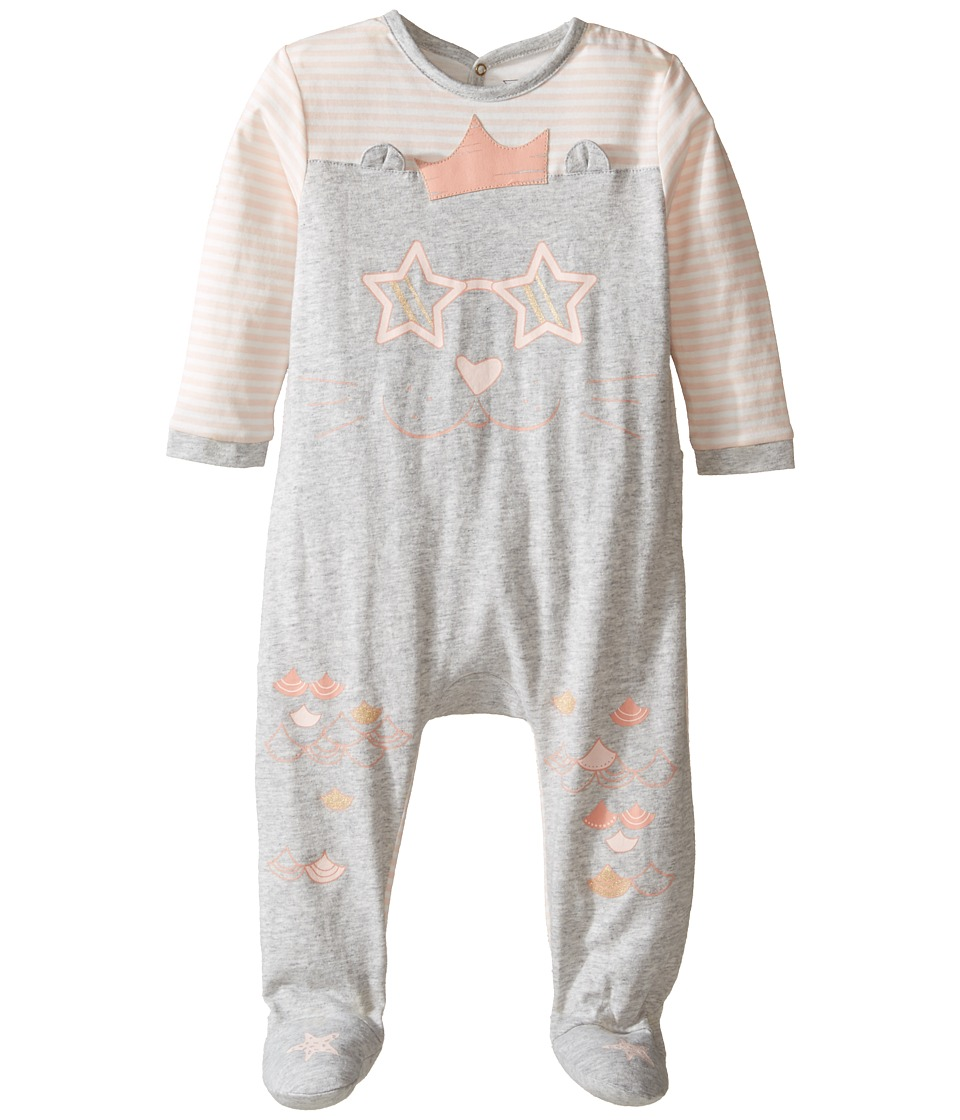 Little Marc Jacobs - Little Ears Details Footie Sold with Gift Box (Infant) (Gris/Rose) Girl's Jumpsuit & Rompers One Piece
