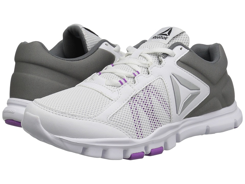 Reebok Yourflex Trainette 9.0 MT (White/Alloy/Vicious Violet) Women