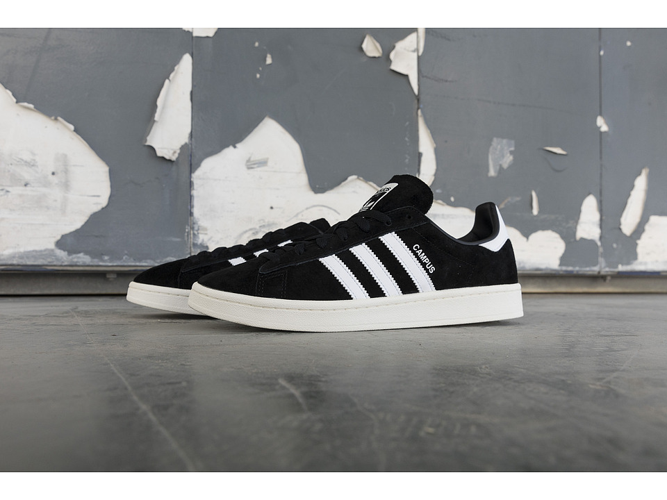 adidas Originals - Campus (Black/White/Chalk White) Men's Classic Shoes