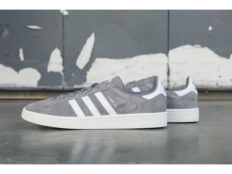 adidas Originals - Campus (Clear Onix/White/Chalk White) Men's Classic Shoes