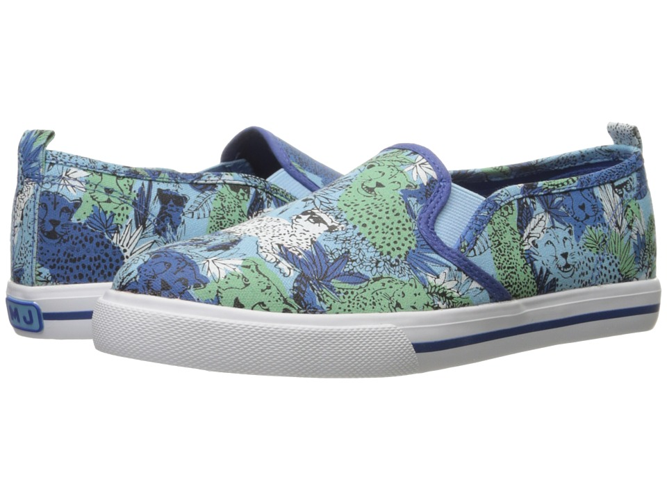 Little Marc Jacobs - All Over Printed Slip-On (Toddler/Little Kid/Big Kid) (Bleu/Vert) Boys Shoes