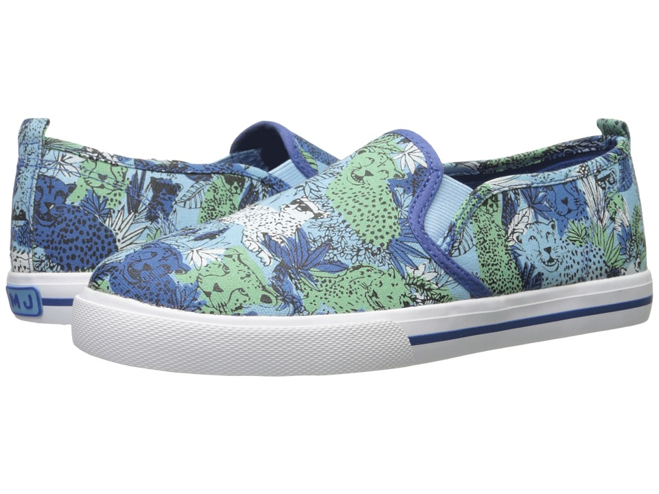 Little Marc Jacobs - All Over Printed Slip-On (Big Kid) (Bleu/Vert) Boys Shoes