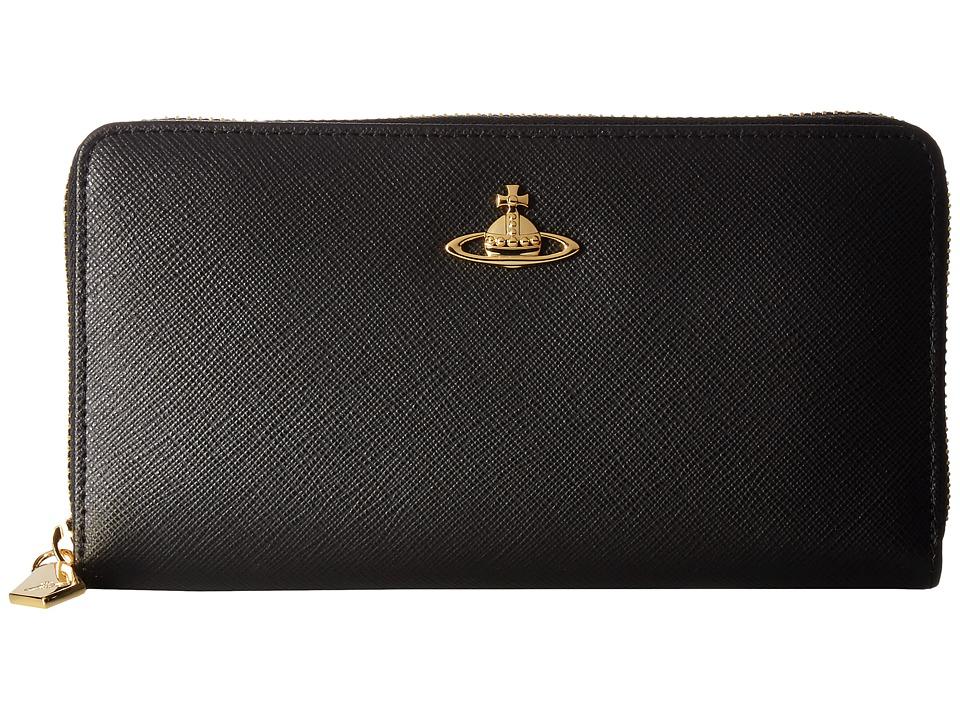 Vivienne Westwood - Wallet Saffiano (Black) Wallet Handbags