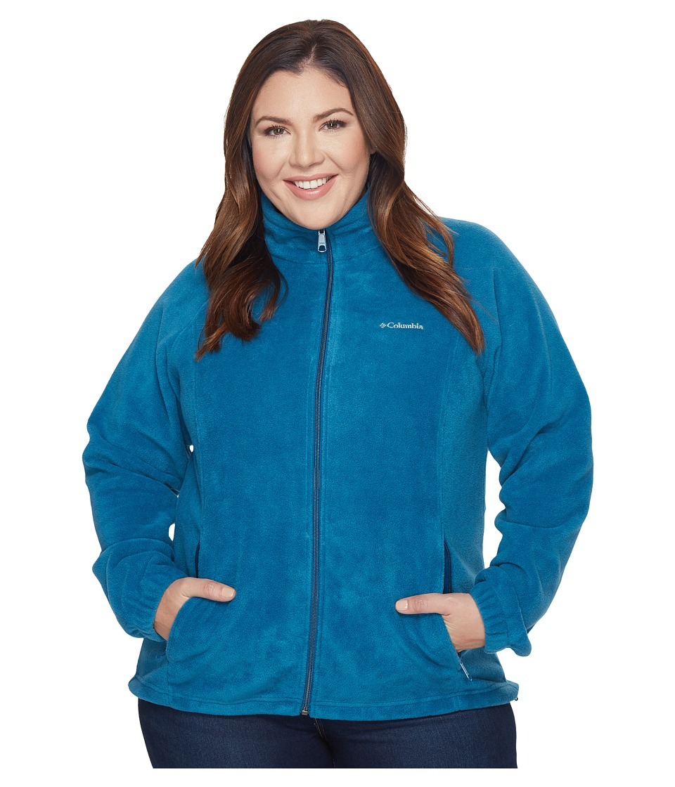 Columbia - Plus Size Benton Springstm Full Zip (Phoenix Blue) Women's Sweatshirt