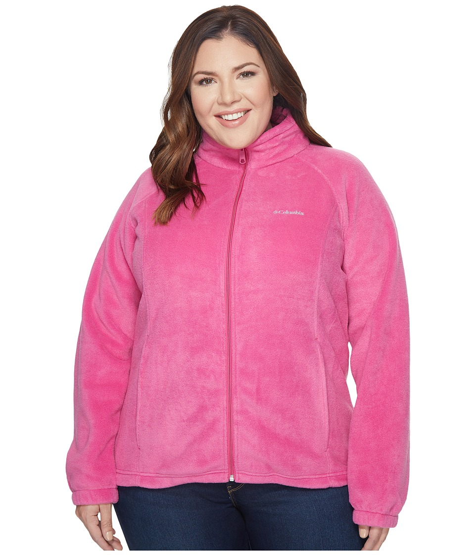 Columbia - Plus Size Benton Springstm Full Zip (Fuchsia) Women's Sweatshirt