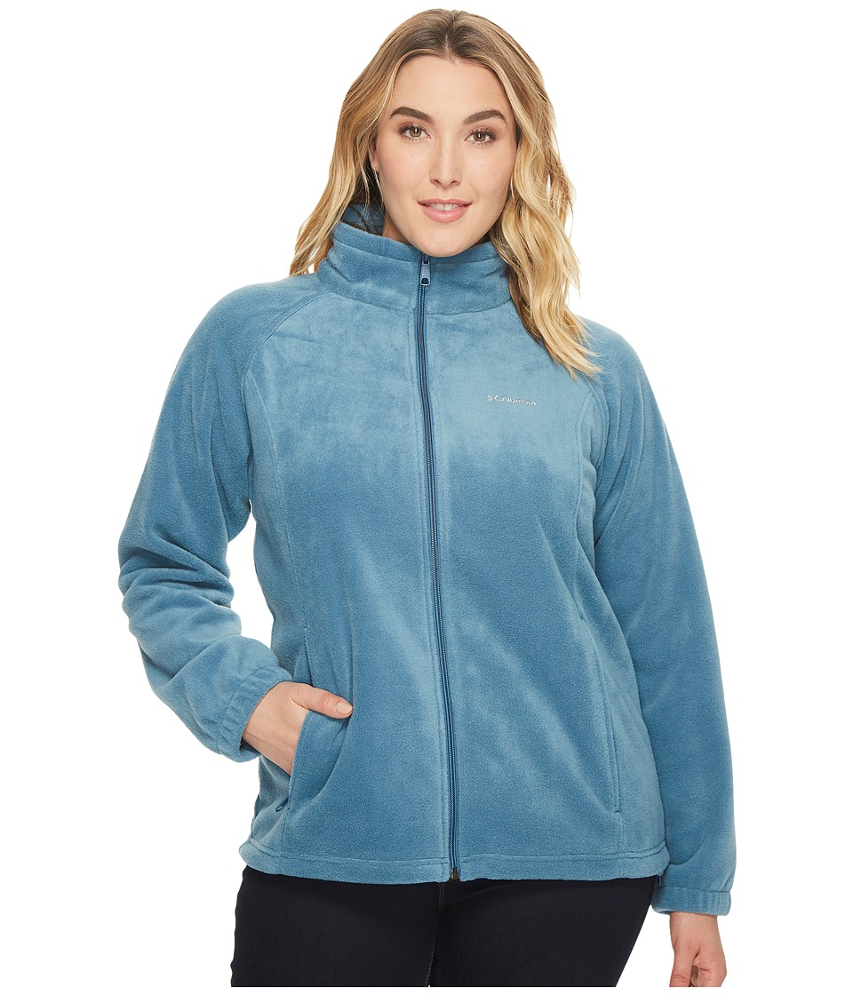Columbia - Plus Size Benton Springstm Full Zip (Blue Heron) Women's Sweatshirt