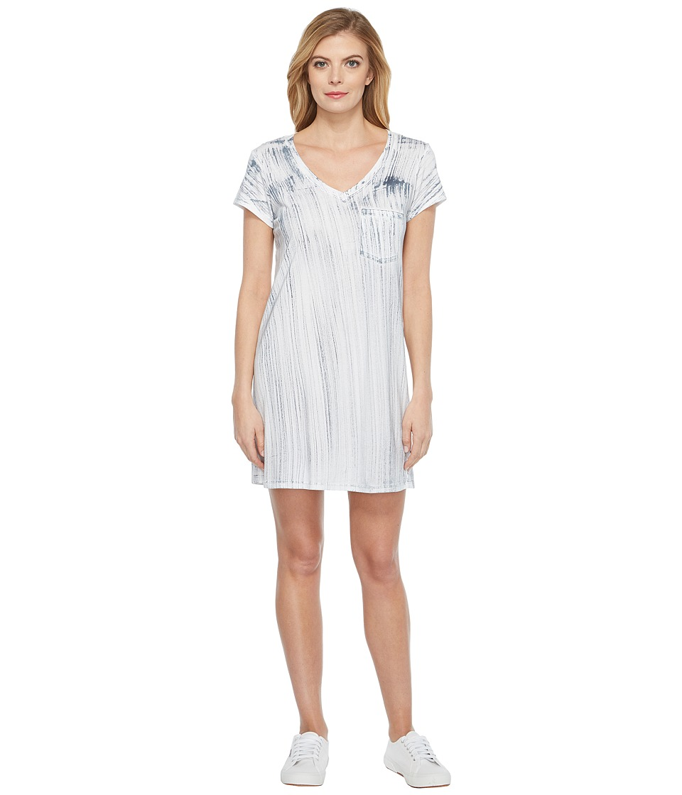 Michael Stars Nautical Wash Short Sleeve V-Neck Dress (Oxide) Women