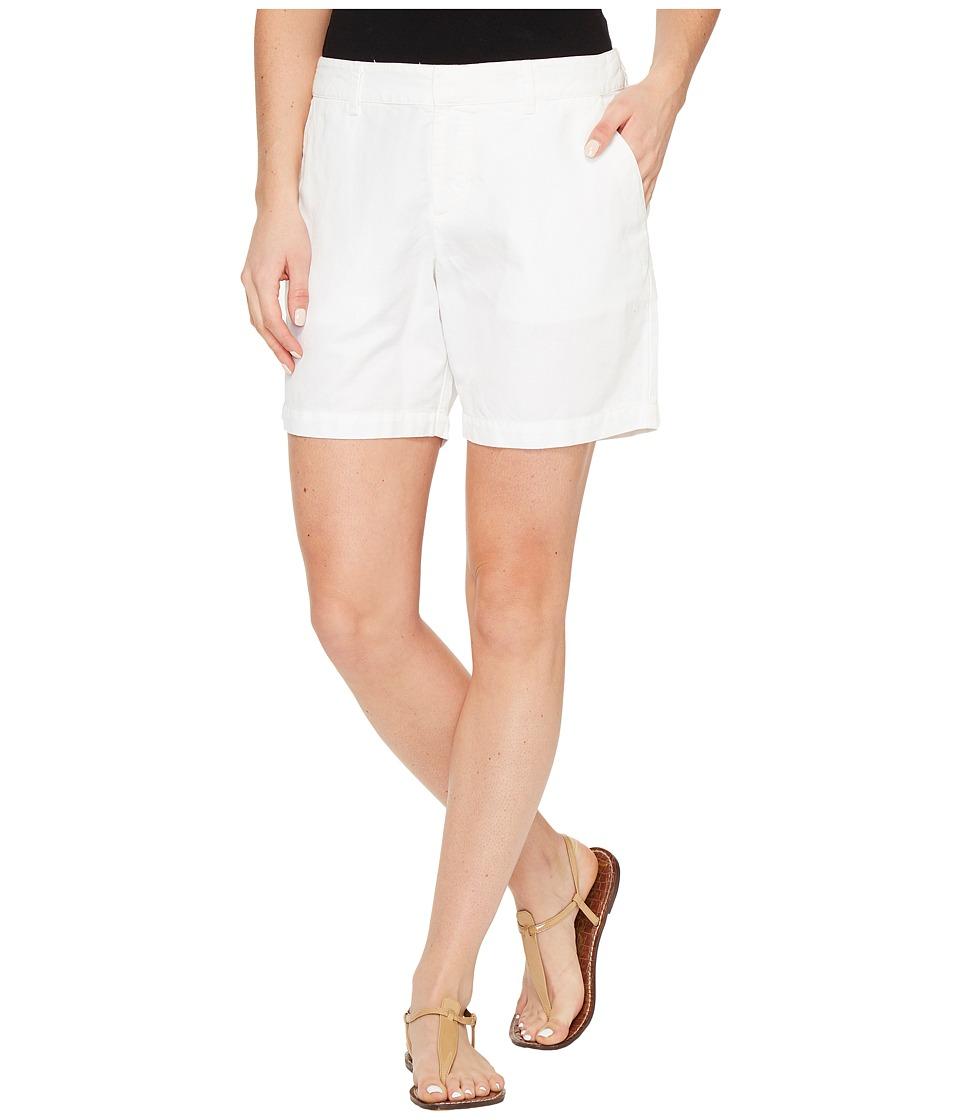 Michael Stars - Linen Cotton Blend Walking Shorts (White) Women's Shorts