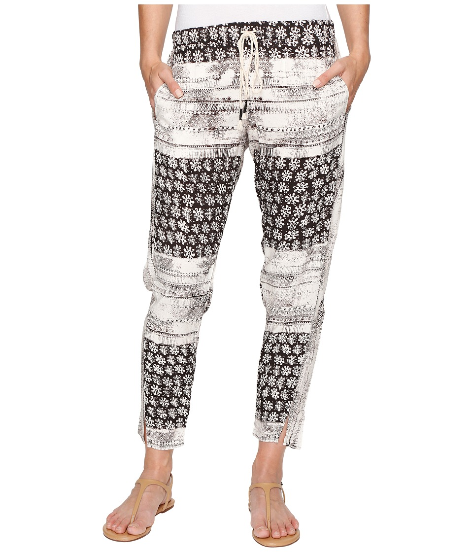 Michael Stars - Charlotte Print Drawstring Pants (Black/Chalk) Women's Casual Pants