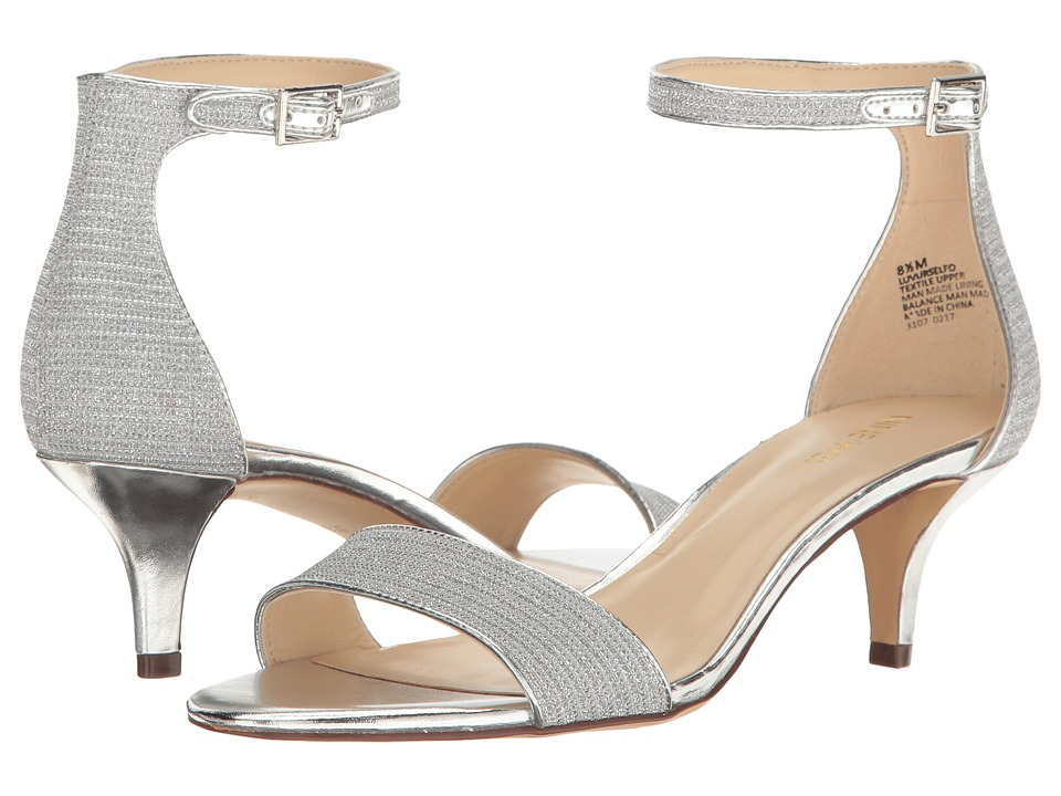 Nine West - Leloup (White/Silver/Silver/Silver) Women's Shoes