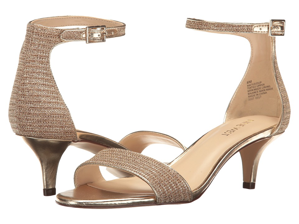 Nine West - Leloup (White/Gold/Gold/Gold/Sand) Women's Shoes