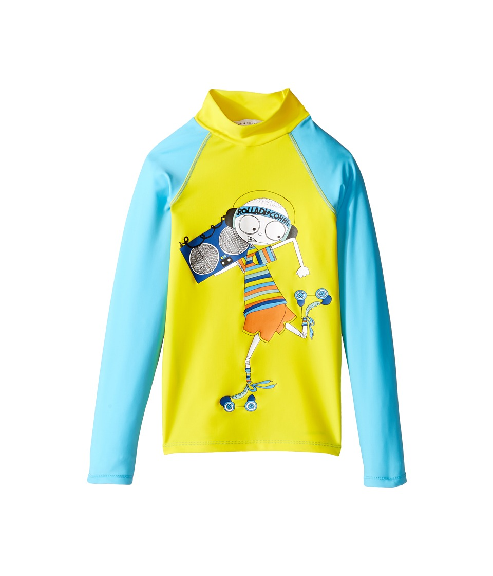 Little Marc Jacobs - Swimsuit Long Sleeve Tee Shirt (Little Kids/Big Kids) (Jaune/Bleu) Boy's Swimwear