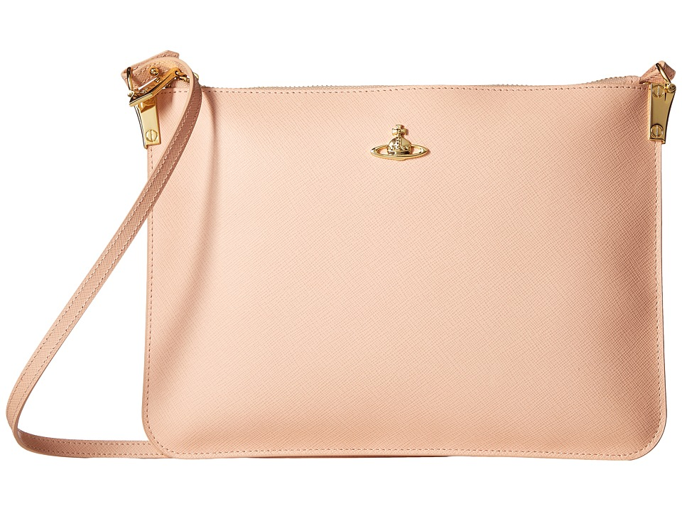 Vivienne Westwood - Small Bag Saffiano (Pink) Handbags