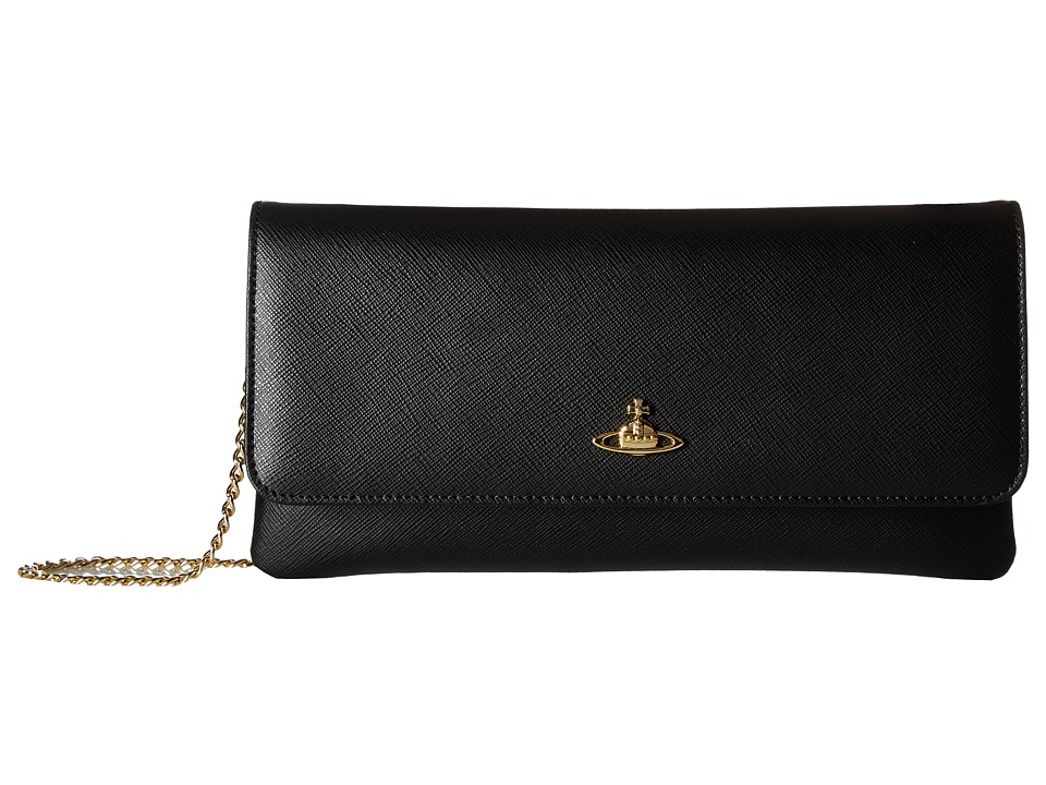 Vivienne Westwood - Small Bag Saffiano (Black) Handbags