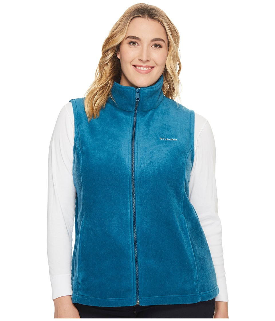 Columbia - Plus Size Benton Springs Vest (Phoenix Blue) Women's Vest