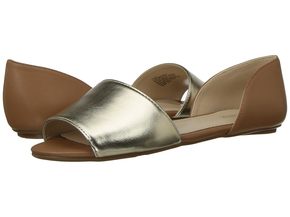 Nine West - Broken (Platino/Dark Caramel) Women's Flat Shoes