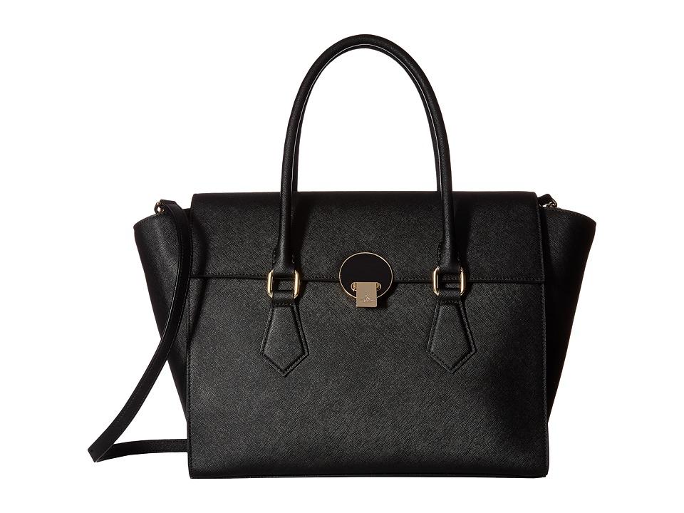 Vivienne Westwood - Handbag Opio Saffiano (Black) Handbags