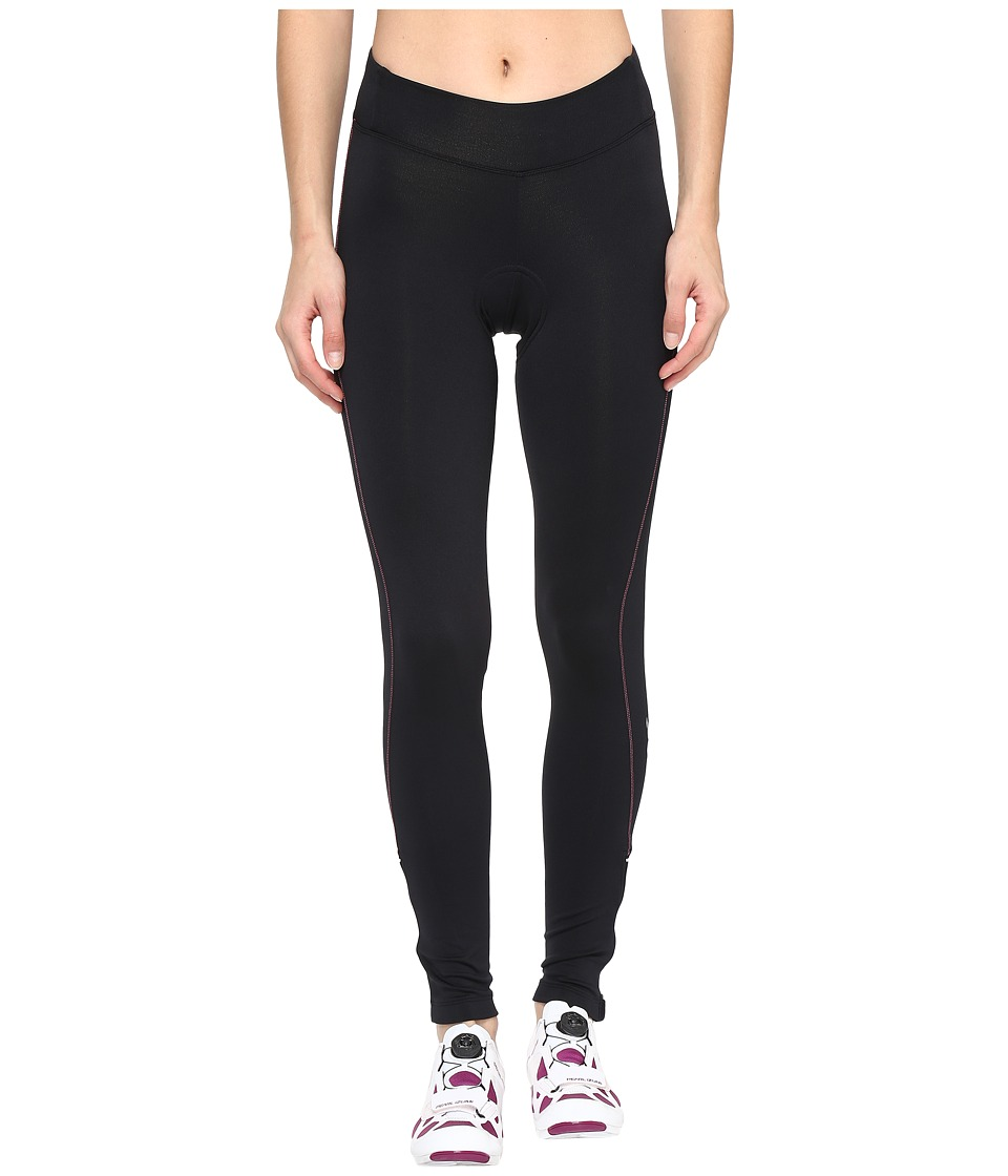 Pearl Izumi - Sugar Thermal Tights (Black/Screaming Pink Stitch) Women's Clothing
