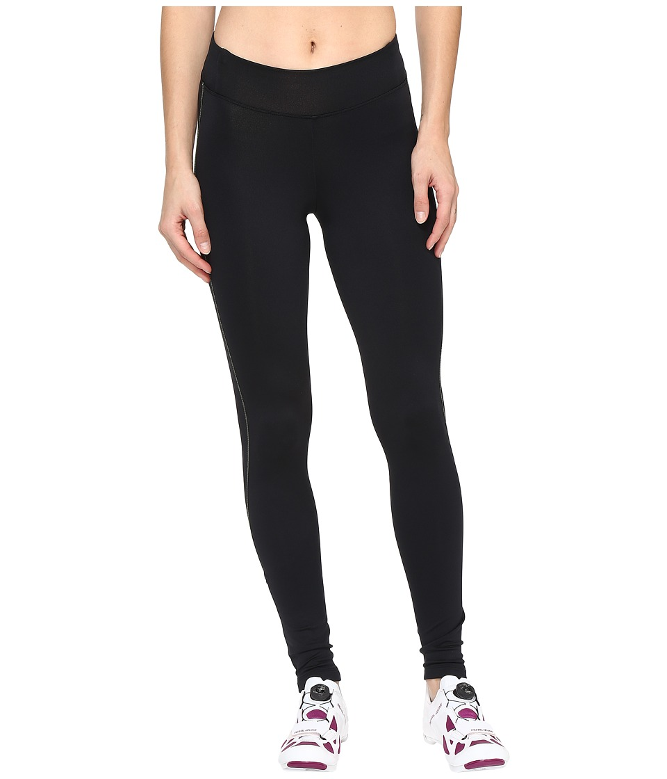 Pearl Izumi - Sugar Thermal Tights (Black/Screaming Yellow Stitch) Women's Clothing
