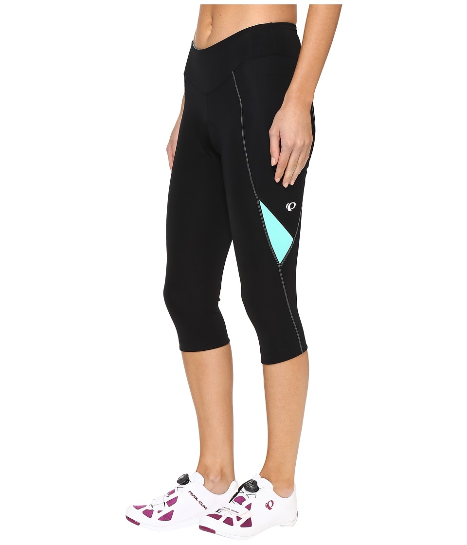 Pearl Izumi - Sugar Cycling 3/4 Tights (Black/Aqua Mint) Women's Clothing