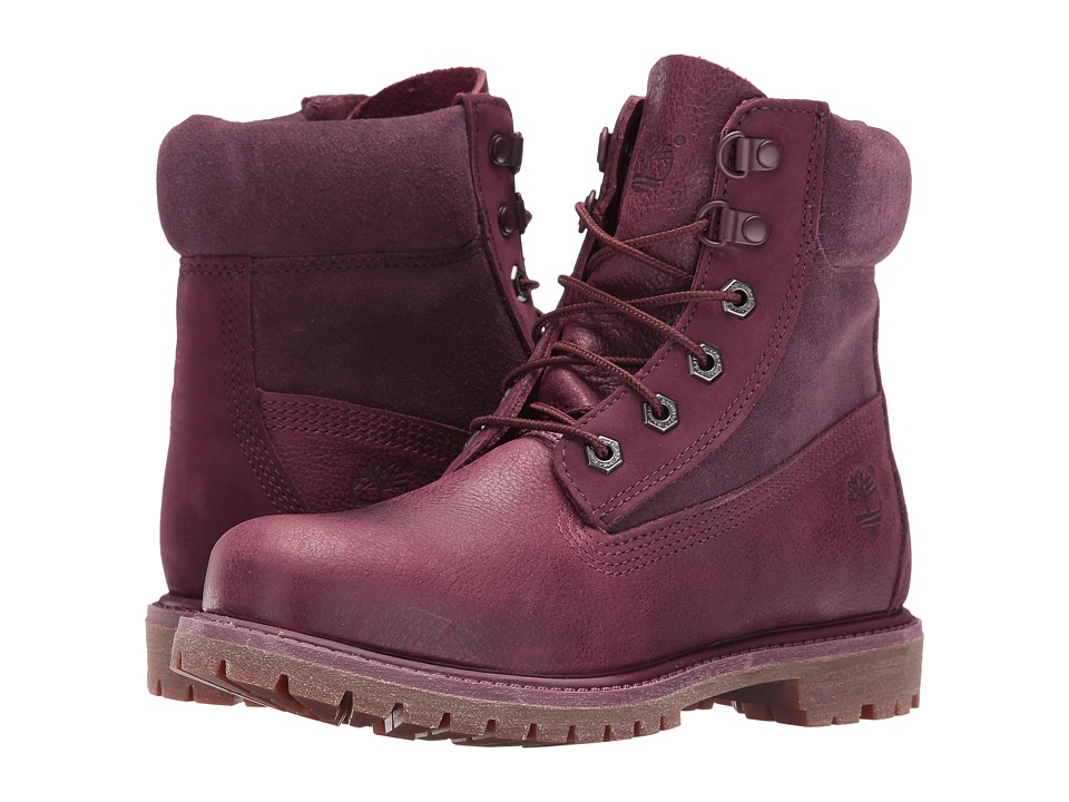 Timberland - 6 Premium D Ring (Dark Red) Women's Shoes