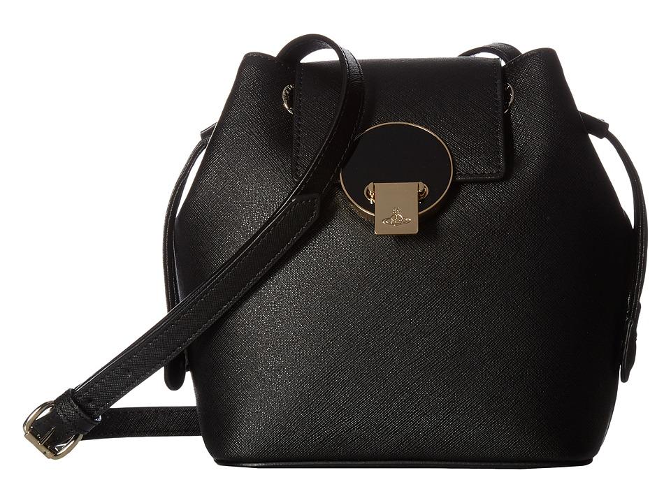 Vivienne Westwood - Mini Bucket Opio Saffiano (Black) Handbags