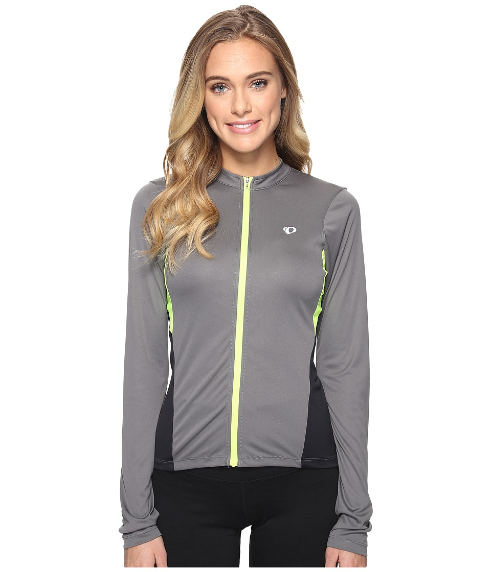 Pearl Izumi - Select Long Sleeve Jersey (Smoked Pearl/Screaming Yellow) Women's Clothing