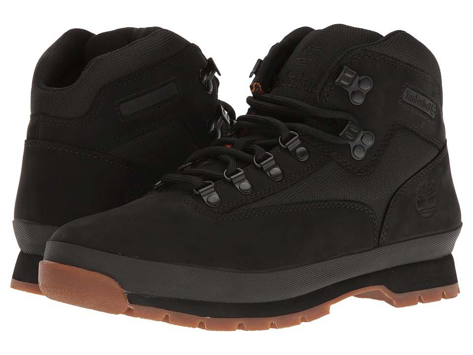 Timberland - Euro Hiker Leather Fabric (Black) Men's Boots