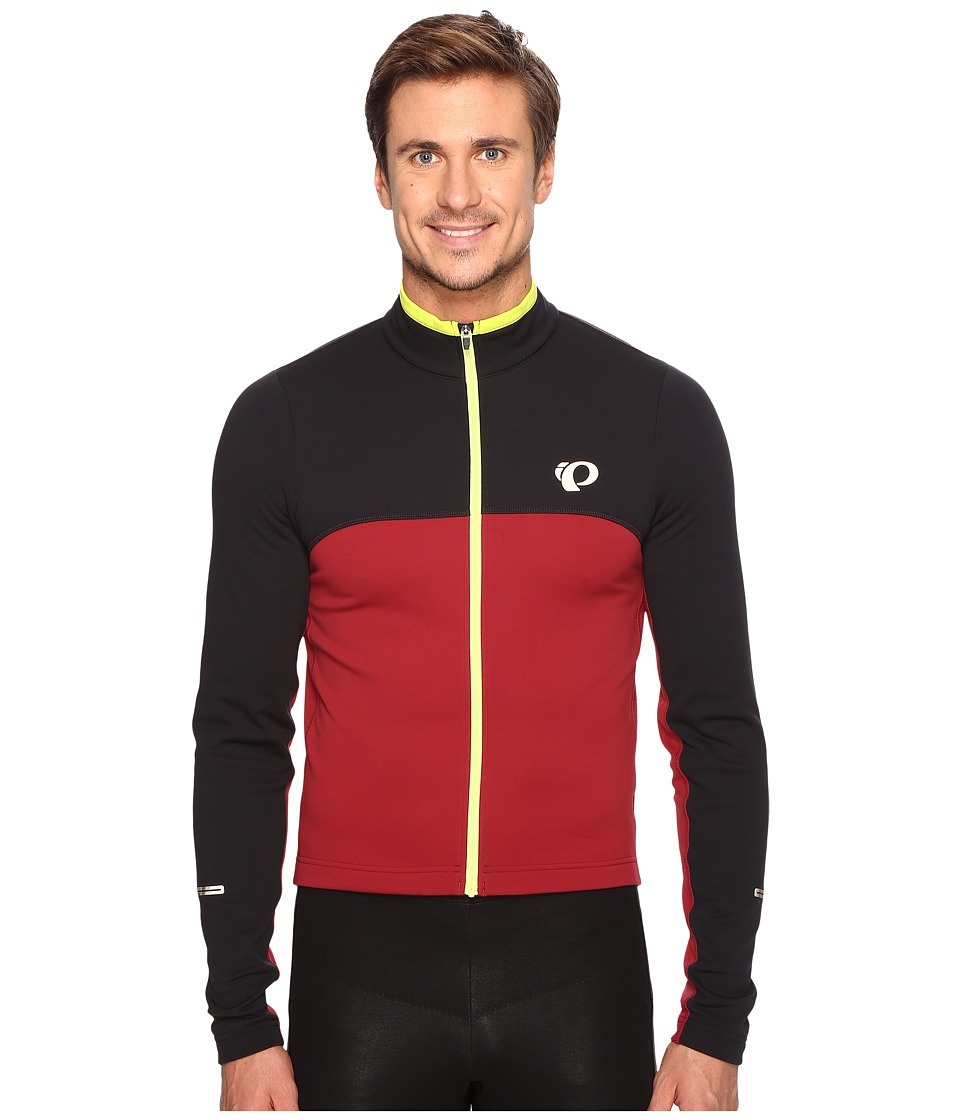 Pearl Izumi - SELECT Thermal Jersey (Black/Tibetan Rerd) Men's Clothing