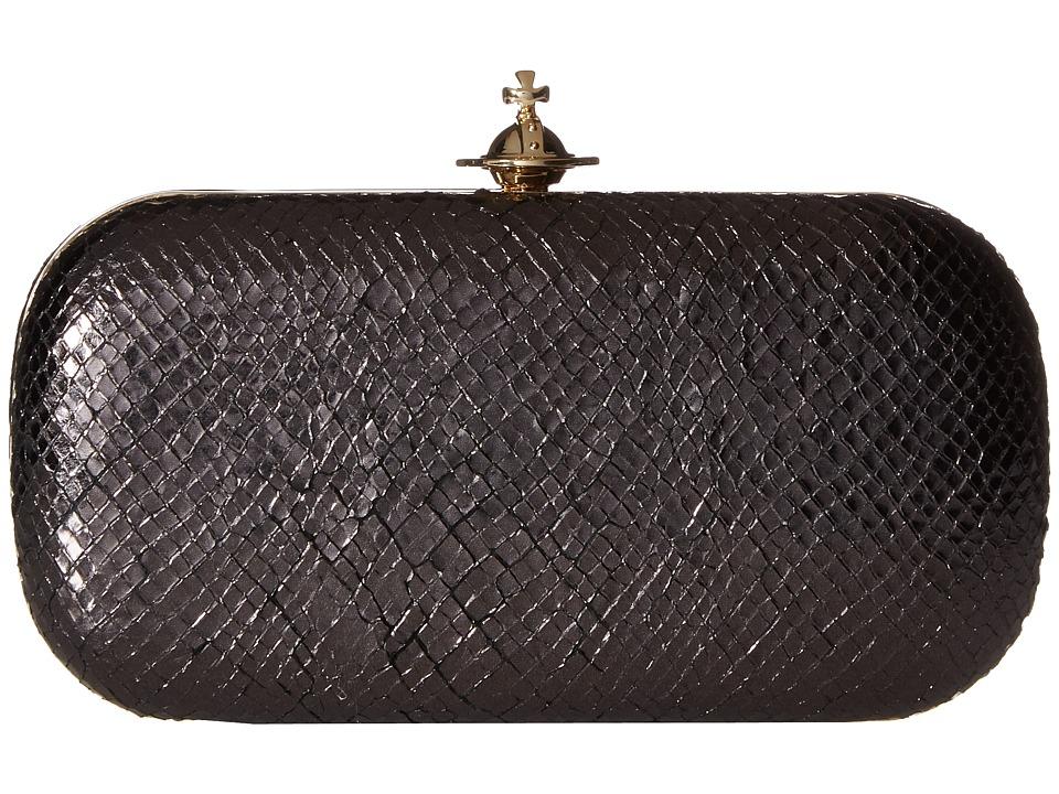 Vivienne Westwood Medium Clutch Verona (Black) Clutch Handbags