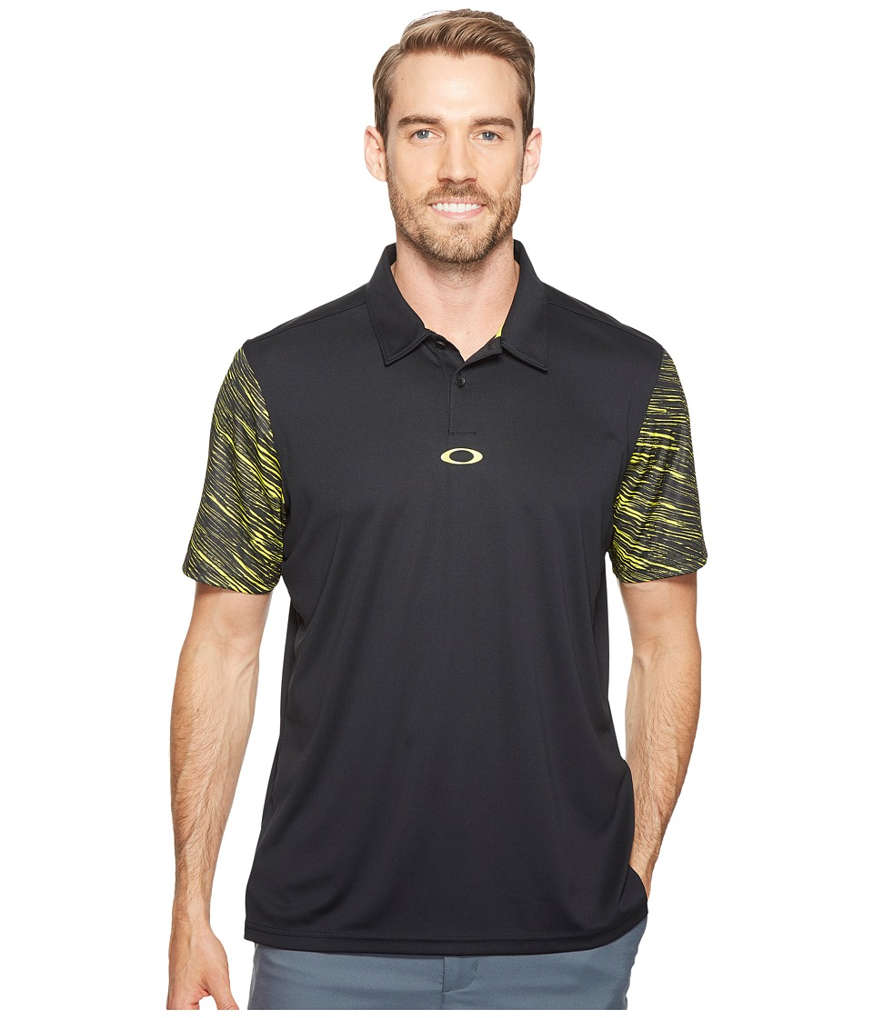 Oakley - Premier Wave Polo (Blackout) Men's Clothing