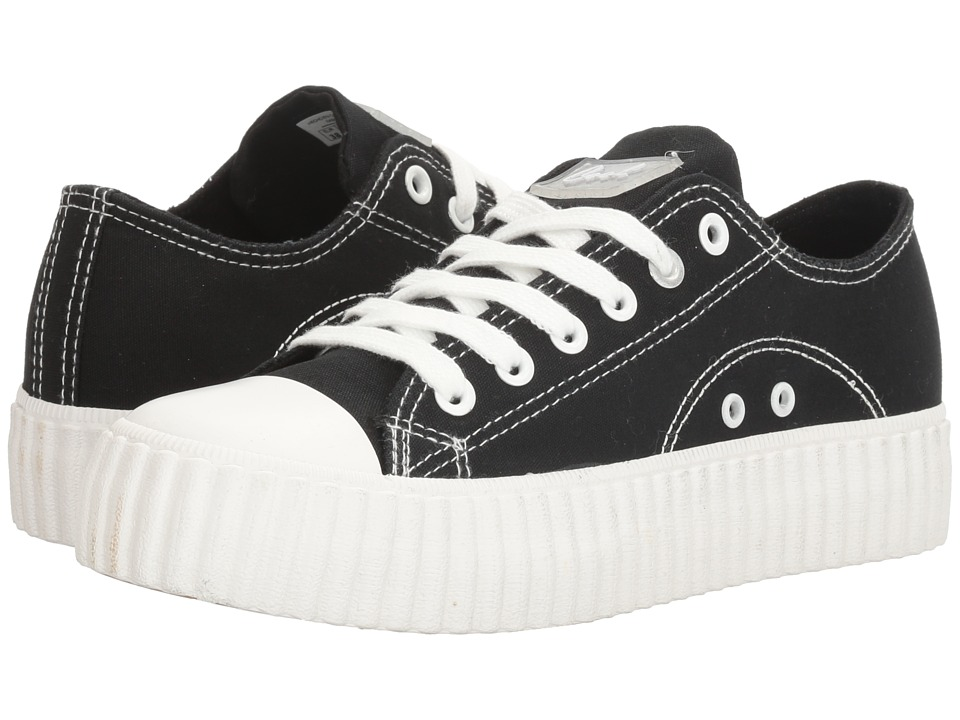 Coolway - Britney (Black Canvas) Women's Shoes